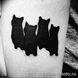 фото рисунка тату черная кошка 13.11.2018 №018 - black cat tattoo picture - tattoo-photo.ru