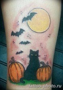 фото рисунка тату черная кошка 13.11.2018 №020 - black cat tattoo picture - tattoo-photo.ru