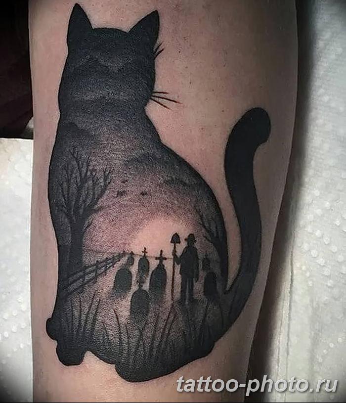 предстала образе фото татуировок силуэт кошка хивинская