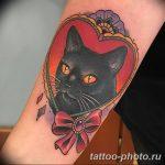фото рисунка тату черная кошка 13.11.2018 №040 - black cat tattoo picture - tattoo-photo.ru