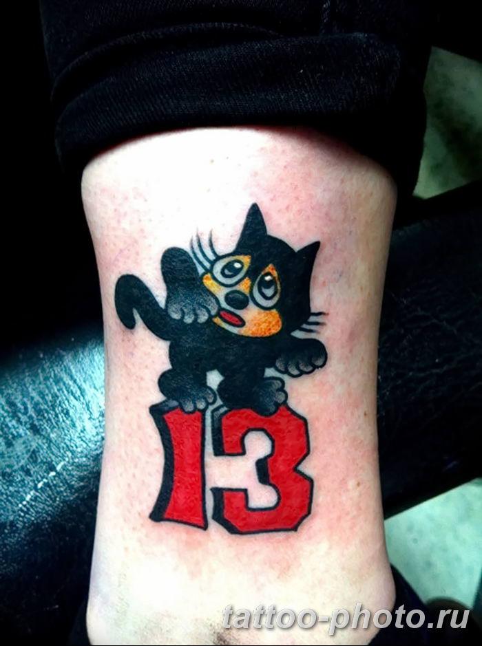 фото рисунка тату черная кошка 13.11.2018 №048 - black cat tattoo picture - tattoo-photo.ru