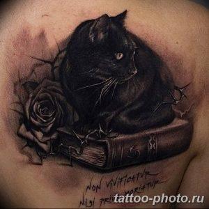 фото рисунка тату черная кошка 13.11.2018 №116 - black cat tattoo picture - tattoo-photo.ru