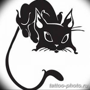 фото рисунка тату черная кошка 13.11.2018 №194 - black cat tattoo picture - tattoo-photo.ru