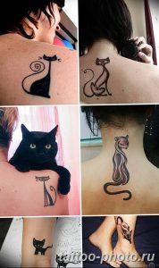 фото рисунка тату черная кошка 13.11.2018 №218 - black cat tattoo picture - tattoo-photo.ru