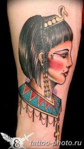 Фото рисунка тату Клеопатра 04.11.2018 №035 - Cleopatra tattoo - tattoo-photo.ru