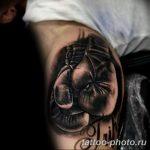Фото рисунка тату боксерские перчатки 31.10.2018 №010 - tattoo boxing - tattoo-photo.ru