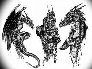Фото рисунка тату дракон 12.10.2018 №002 - dragon tattoo - tattoo-photo.ru