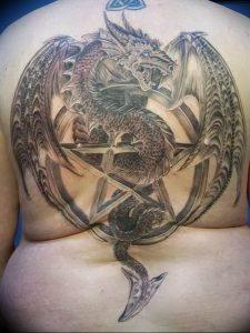 Фото рисунка тату дракон 12.10.2018 №011 - dragon tattoo - tattoo-photo.ru