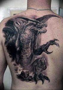 Фото рисунка тату дракон 12.10.2018 №022 - dragon tattoo - tattoo-photo.ru