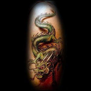 Фото рисунка тату дракон 12.10.2018 №024 - dragon tattoo - tattoo-photo.ru