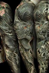 Фото рисунка тату дракон 12.10.2018 №025 - dragon tattoo - tattoo-photo.ru