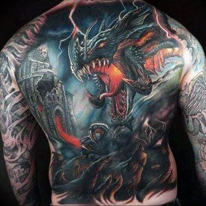 Фото рисунка тату дракон 12.10.2018 №038 - dragon tattoo - tattoo-photo.ru