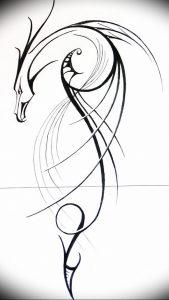 Фото рисунка тату дракон 12.10.2018 №055 - dragon tattoo - tattoo-photo.ru