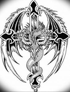 Фото рисунка тату дракон 12.10.2018 №062 - dragon tattoo - tattoo-photo.ru