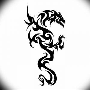Фото рисунка тату дракон 12.10.2018 №068 - dragon tattoo - tattoo-photo.ru