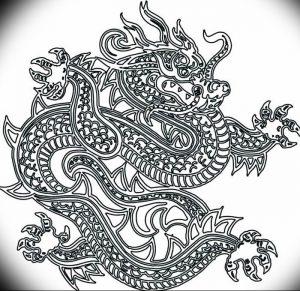 Фото рисунка тату дракон 12.10.2018 №069 - dragon tattoo - tattoo-photo.ru