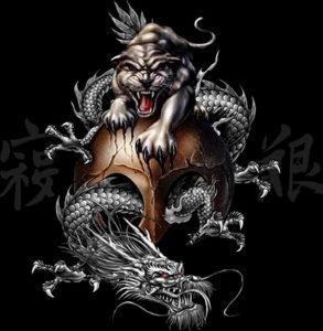 Фото рисунка тату дракон 12.10.2018 №072 - dragon tattoo - tattoo-photo.ru