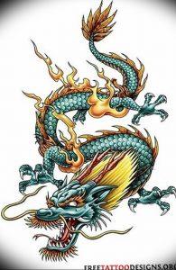 Фото рисунка тату дракон 12.10.2018 №073 - dragon tattoo - tattoo-photo.ru