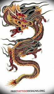 Фото рисунка тату дракон 12.10.2018 №074 - dragon tattoo - tattoo-photo.ru