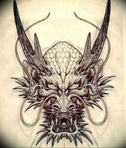 Фото рисунка тату дракон 12.10.2018 №080 - dragon tattoo - tattoo-photo.ru