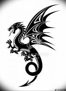 Фото рисунка тату дракон 12.10.2018 №082 - dragon tattoo - tattoo-photo.ru