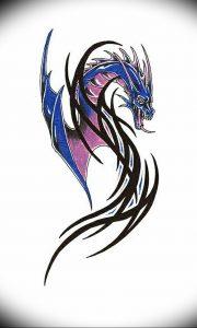 Фото рисунка тату дракон 12.10.2018 №083 - dragon tattoo - tattoo-photo.ru