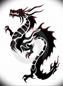 Фото рисунка тату дракон 12.10.2018 №089 - dragon tattoo - tattoo-photo.ru