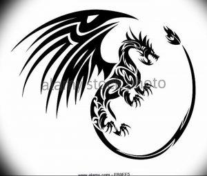 Фото рисунка тату дракон 12.10.2018 №094 - dragon tattoo - tattoo-photo.ru