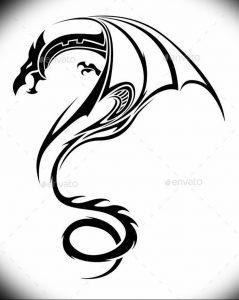 Фото рисунка тату дракон 12.10.2018 №095 - dragon tattoo - tattoo-photo.ru
