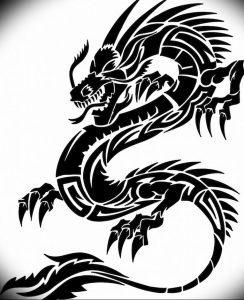 Фото рисунка тату дракон 12.10.2018 №100 - dragon tattoo - tattoo-photo.ru