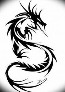 Фото рисунка тату дракон 12.10.2018 №106 - dragon tattoo - tattoo-photo.ru