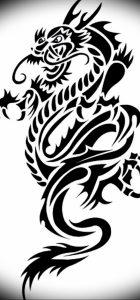 Фото рисунка тату дракон 12.10.2018 №109 - dragon tattoo - tattoo-photo.ru