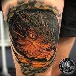 Фото рисунка тату дракон 12.10.2018 №113 - dragon tattoo - tattoo-photo.ru