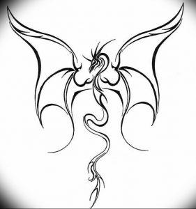 Фото рисунка тату дракон 12.10.2018 №118 - dragon tattoo - tattoo-photo.ru