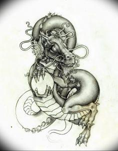 Фото рисунка тату дракон 12.10.2018 №119 - dragon tattoo - tattoo-photo.ru