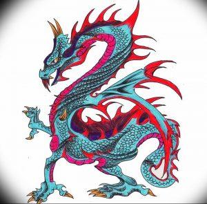 Фото рисунка тату дракон 12.10.2018 №122 - dragon tattoo - tattoo-photo.ru