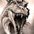Фото рисунка тату дракон 12.10.2018 №373 - dragon tattoo - tattoo-photo.ru