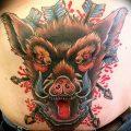 Фото рисунка тату кабан 11.10.2018 №050 - boar tattoo - tattoo-photo.ru