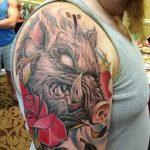 Фото рисунка тату кабан 11.10.2018 №061 - boar tattoo - tattoo-photo.ru