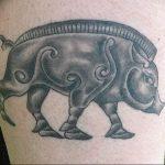 Фото рисунка тату кабан 11.10.2018 №069 - boar tattoo - tattoo-photo.ru