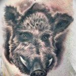 Фото рисунка тату кабан 11.10.2018 №075 - boar tattoo - tattoo-photo.ru