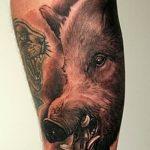 Фото рисунка тату кабан 11.10.2018 №082 - boar tattoo - tattoo-photo.ru