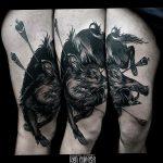 Фото рисунка тату кабан 11.10.2018 №085 - boar tattoo - tattoo-photo.ru