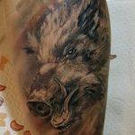 Фото рисунка тату кабан 11.10.2018 №093 - boar tattoo - tattoo-photo.ru