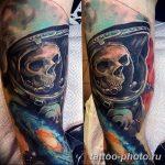 Фото рисунка тату космонавт 31.10.2018 №019 - cosmonaut tattoo - tattoo-photo.ru