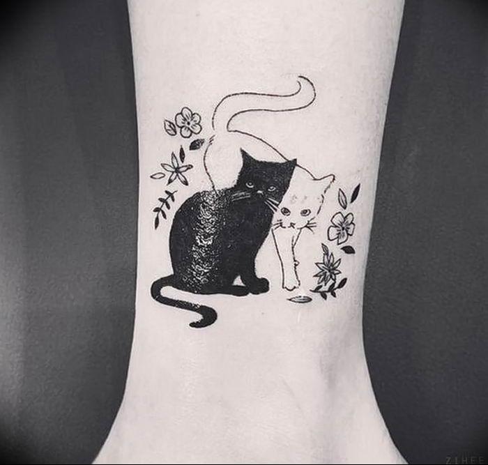 Картинки тату кошек для девушек