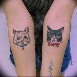 Фото рисунка тату кошка 09.10.2018 №060 - cat tattoo - tattoo-photo.ru
