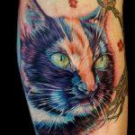 Фото рисунка тату кошка 09.10.2018 №111 - cat tattoo - tattoo-photo.ru