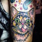 Фото рисунка тату кошка 09.10.2018 №133 - cat tattoo - tattoo-photo.ru