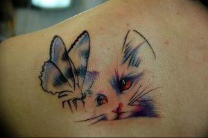 Фото рисунка тату кошка 09.10.2018 №253 - cat tattoo - tattoo-photo.ru